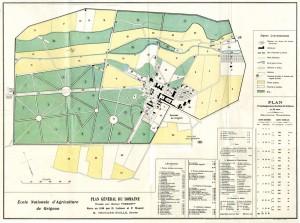 Plan du domaine de Grignon en 1910