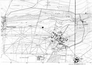 Plan du domaine de Grignon en 1968