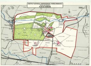 Plan du domaine en 1985