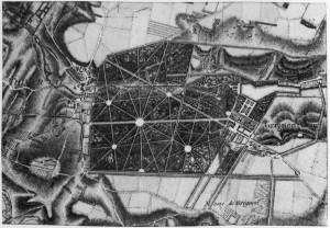 Plan du domaine de Grignon vers 1787