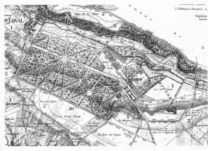 Plan du domaine de Grignon vers 1830