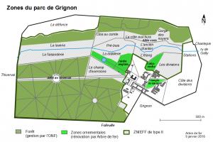 Zones du domaine intra-muros de Grignon