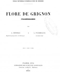 (Flore de Grignon, Moreau, Pichenaud, 1911)