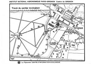 (Plan du sentier écologique de 1987)