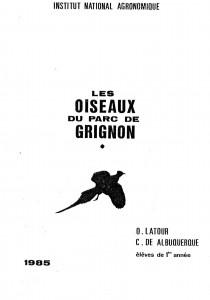 (Couverture du guide sur les oiseaux de 1985)